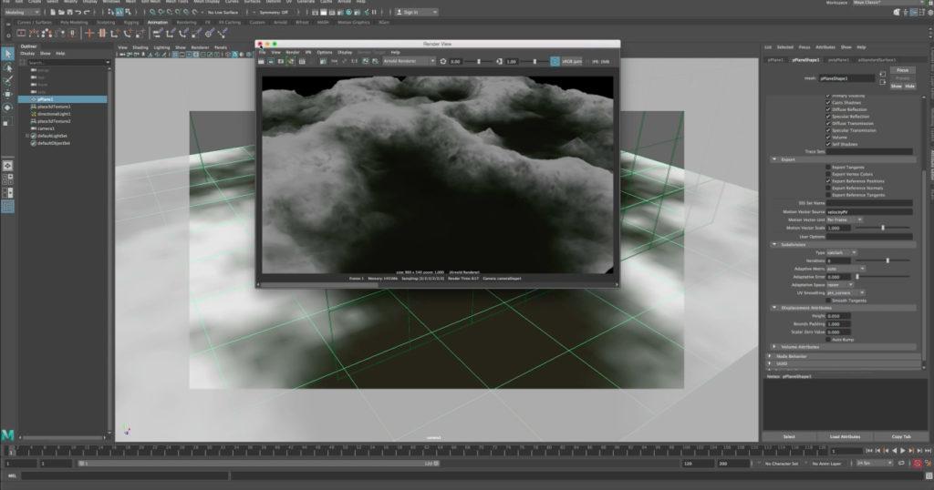 Maya Arnold Displacement Tutorial - 3D Models World