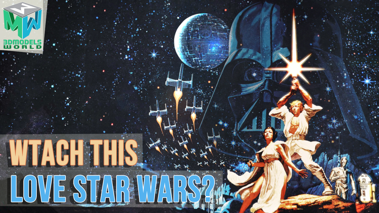 star-wars-a-new-hope-classic-poster-3d-animation-in-maya-must-watch