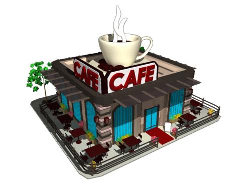 Cafe 3D Model - 3D Models World