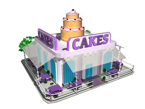 Cake Shop 3D Model - 3D Models World