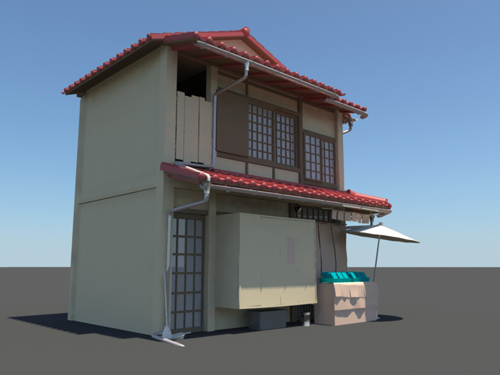 japanese house 3d model 3 - Home 3d Model