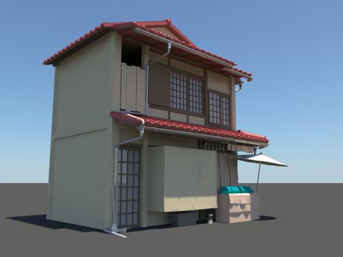 Japanese House 3d Model 3