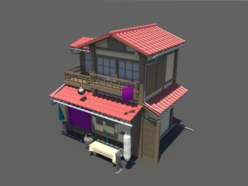 japanese house 3d model 5 - 3d Model Of House