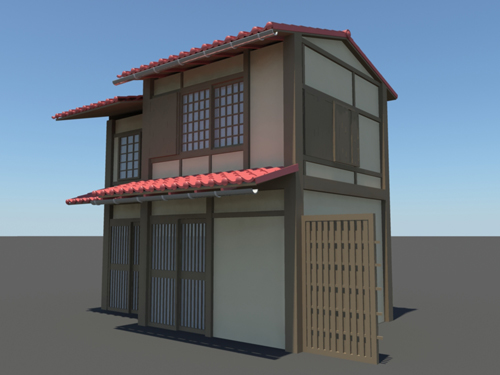 Exceptionnel Japanese House 3D Model
