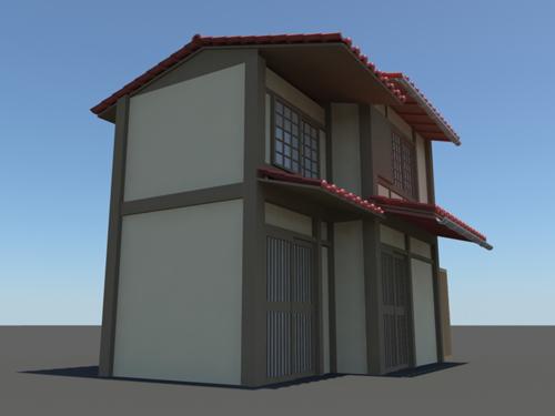 Japanese House 3d Model 17