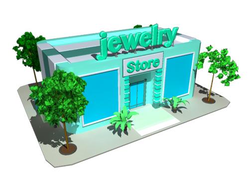 Jewelry Store 3D Model - 3D Models World