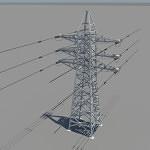 powerline-3d-model-3
