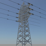 powerline-3d-model-4