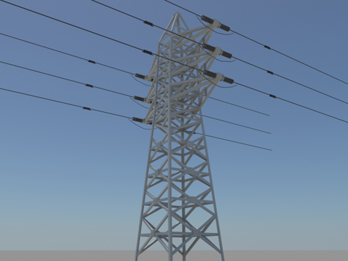 powerline-3d-model-4