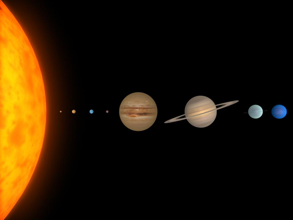 solar system of 3 d-#30