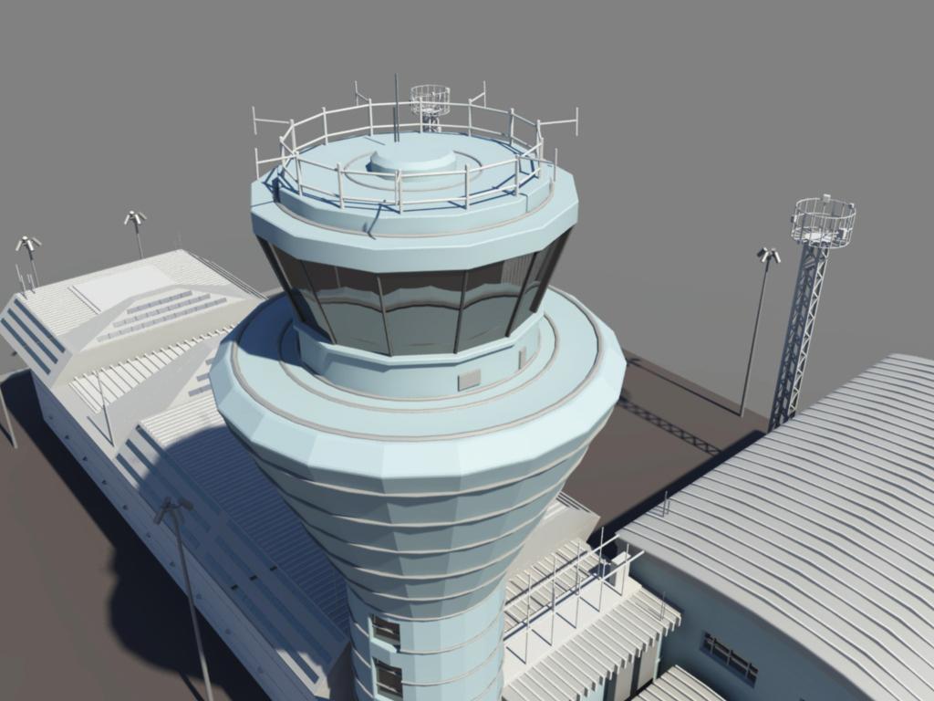 Air Traffic Control Tower 3D Model - 3D Models World