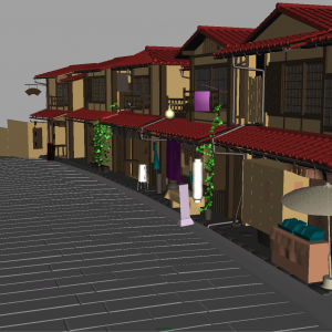 japanese house neighbourhood 3d model 12 - 3d House Models