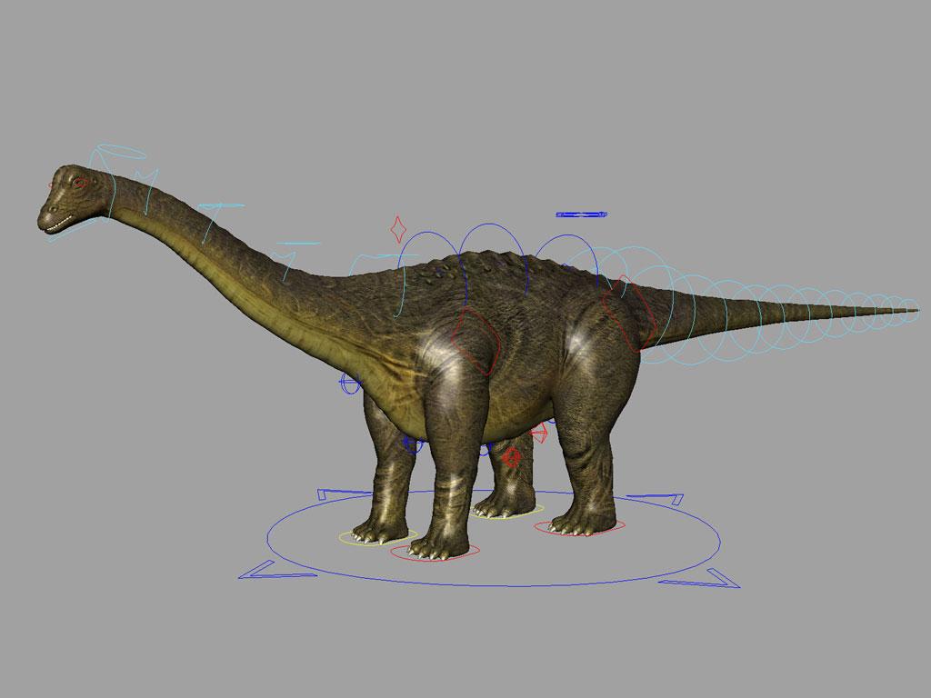 Brontosaurus Rig - Animation Ready - 3D Models World