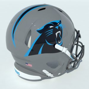 Football Helmet 3D Model Panthers – Realtime