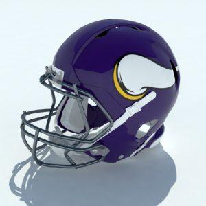Football Helmet 3D Model Vikings – Realtime