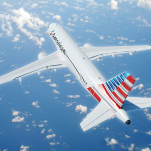 Airbus A320 American Airlines 3D Model – VR – AR Ready