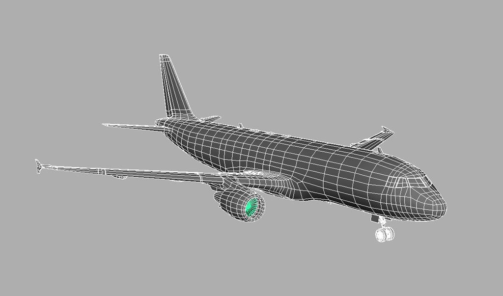 Airbus A320 British Airways 3D Model - VR - AR Ready - 3D Models World