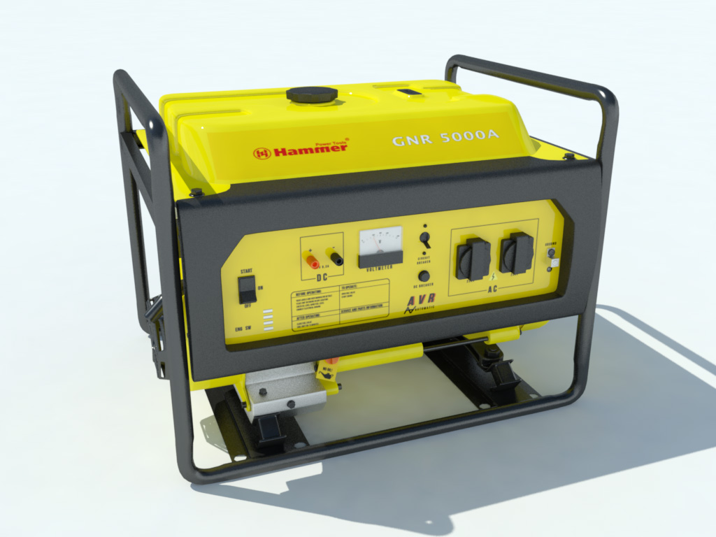 hammer-gnr5000a-electric-generator-3d-model-1