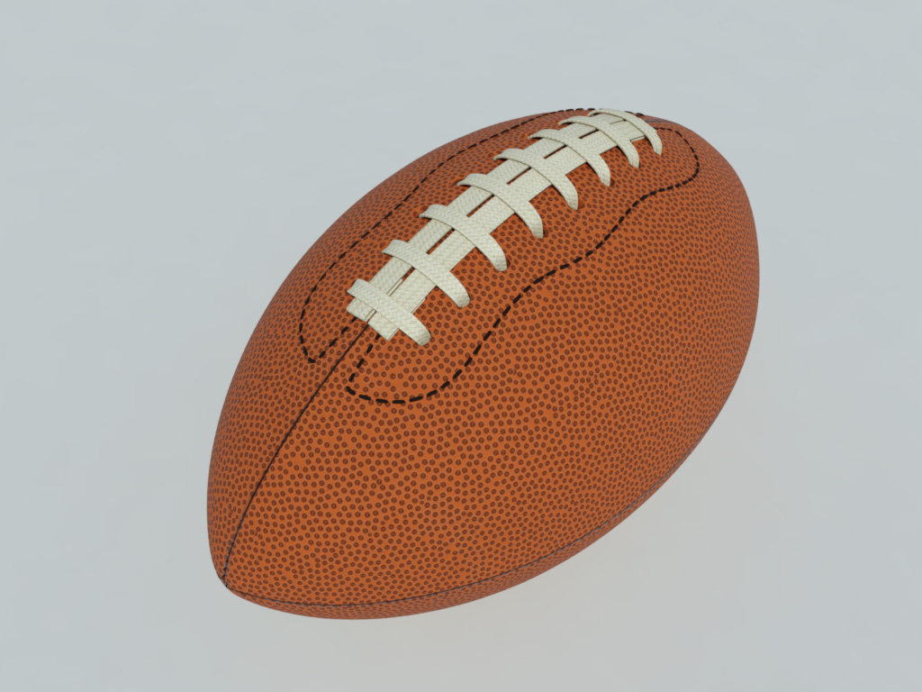 American Football 3D Model - VR Ready - 3D Models World