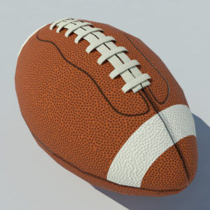 American Football Ball With Stripes Low Poly 3D Model – VR Ready