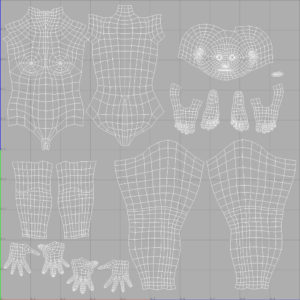 female-3d-model-low-poly-base-mesh-uv-mapping
