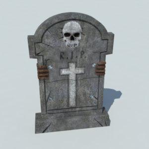 Gravestone 3D Model – Realtime
