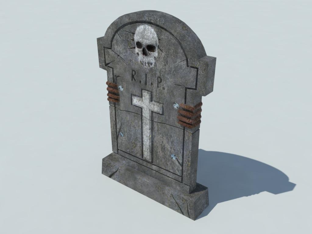 gravestone 3d model realtime 3d models world