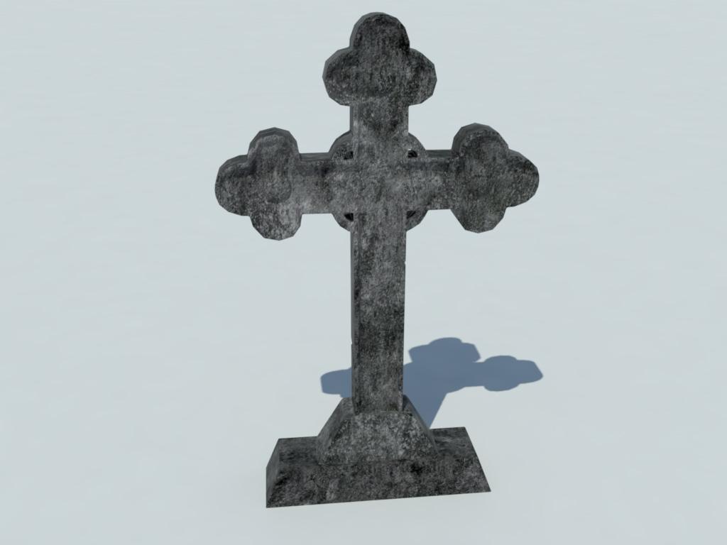 gravestone cross 3d model realtime 3d models world