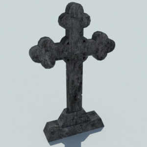 gravestone-cross-3d-model-3