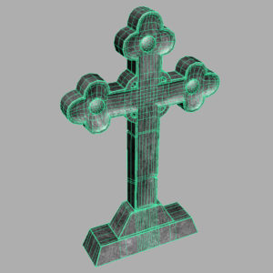 gravestone-cross-3d-model-7