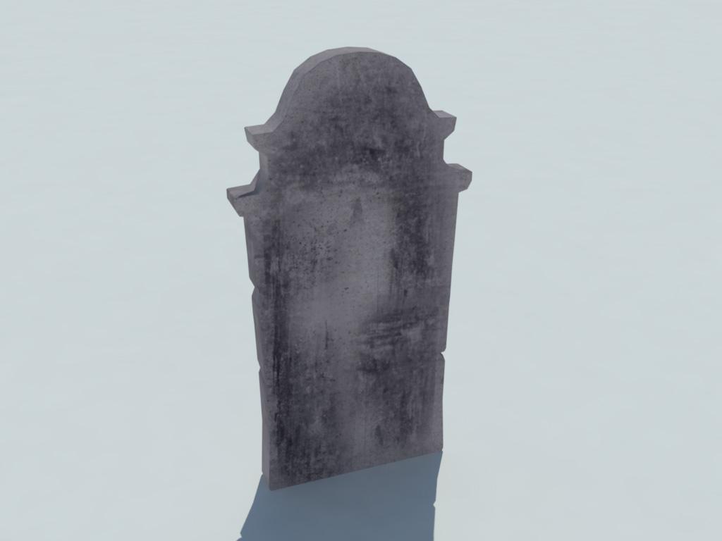 Gravestone RIP 3D Model - Realtime - 3D Models World