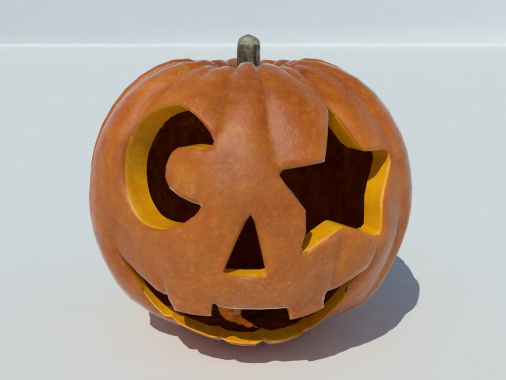 Jack O'lantern Pumpkin Halloween 3D Model - 3D Models World