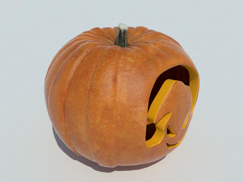 Pumpkin carving halloween d model models world