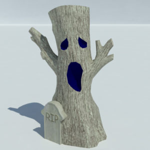 Tree Halloween Rip 3D Model – Realtime