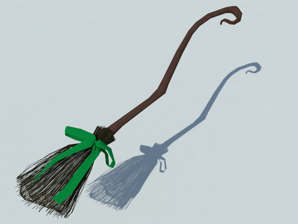 Witch Broom 3D Model - 3D Models World