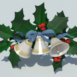christmas-bells-with-holly-leaves-3d-model-1