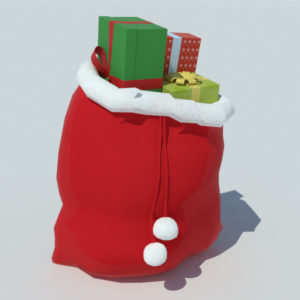 Christmas Gifts Bag 3D Model – Realtime
