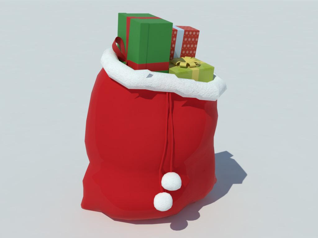 Christmas Gifts Bag 3D Model - Realtime - 3D Models World