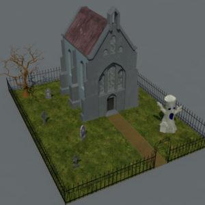 haunted-graveyard-church-3d-model-1