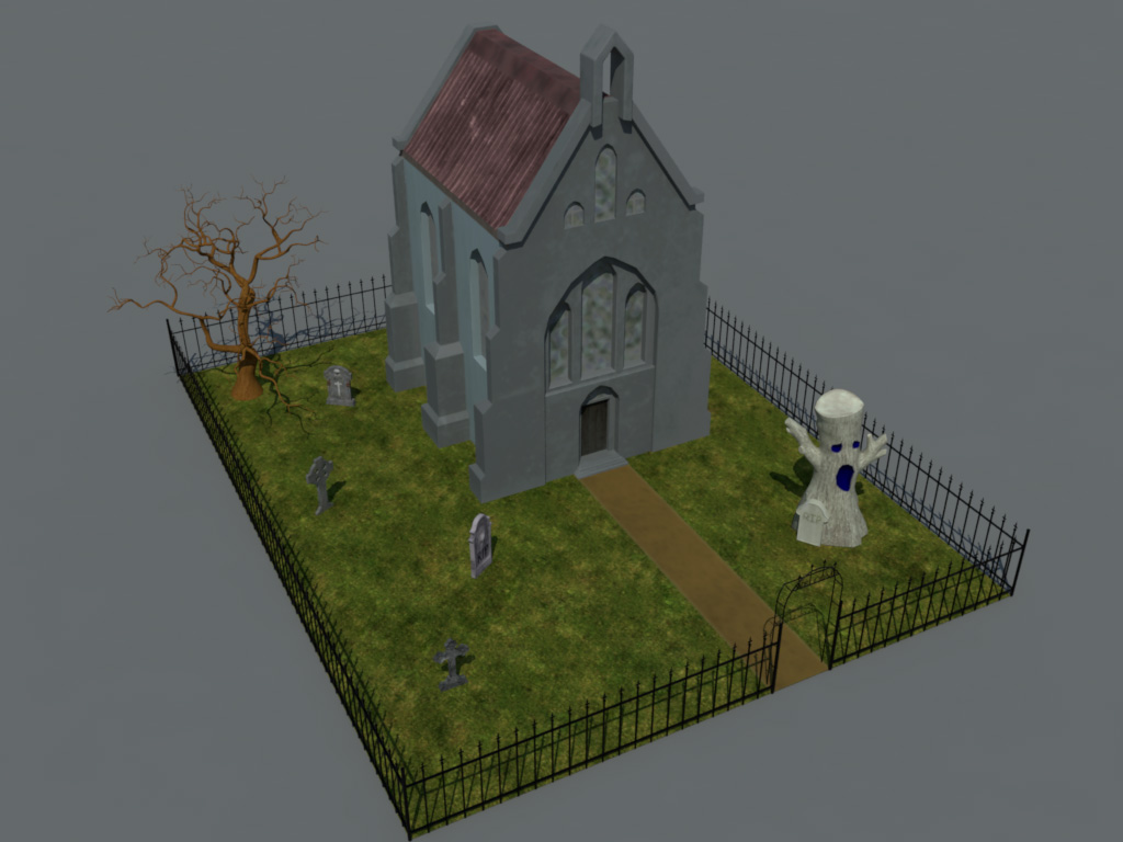 haunted-graveyard-church-3d-model-1