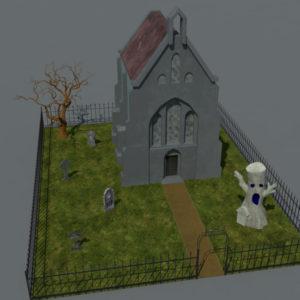 haunted-graveyard-church-3d-model-10