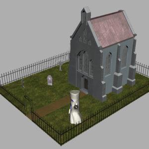 haunted-graveyard-church-3d-model-11