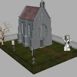 haunted-graveyard-church-3d-model-12