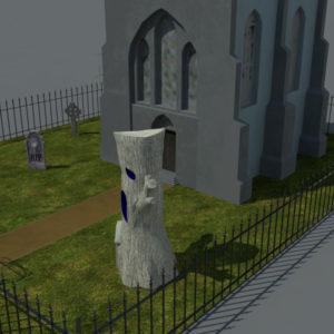 haunted-graveyard-church-3d-model-4