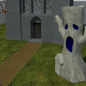 haunted-graveyard-church-3d-model-7