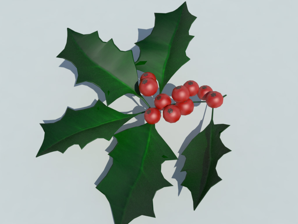 holly-leaves-berries-3d-model-4