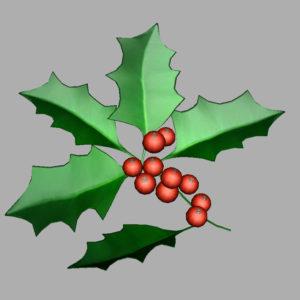 holly-leaves-berries-3d-model-7