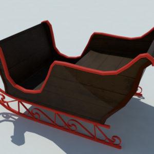 sleigh-3d-model-3