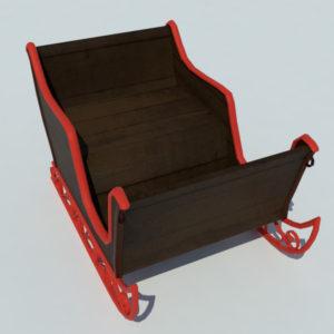 sleigh-3d-model-4