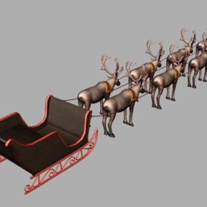 sleigh-reindeer-3d-model-11